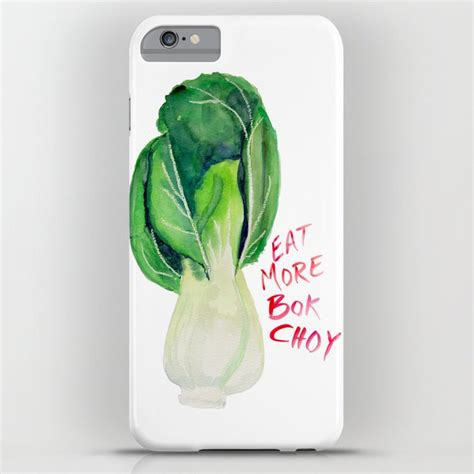 Posted in photoshop » banner & mockup template. Eat More Bok Choy iPhone Case by debrastudio | Society6