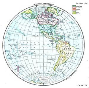 Western Hemisphere Map