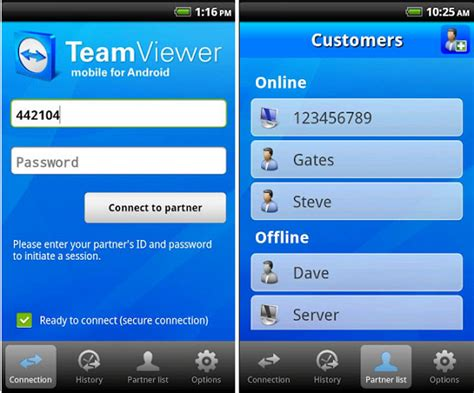 teamviewer android remotely any computer from your android device