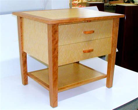 custom  cherry  maple nightstand rj fine woodworking