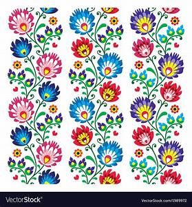 Seamless Traditional Folk Polish Pattern Vector Image On