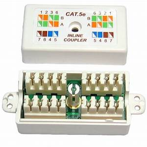 Cat 5e Cat5 Punchdown Ethernet   Network Cable Coupler