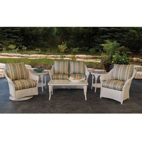 lloyd flanders freeport wicker 6 patio loveseat set