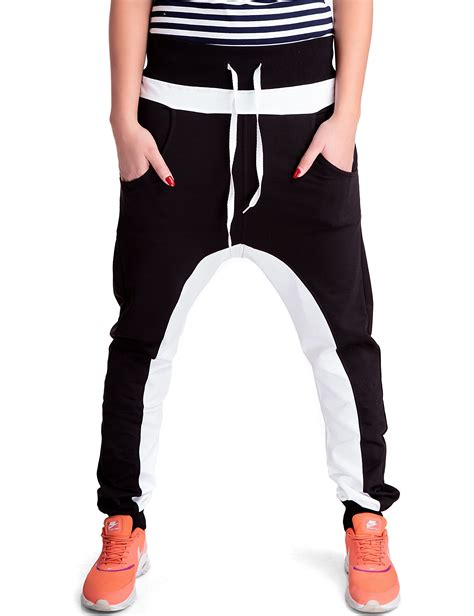 fitness klamotten damen damen sporthose im baggy style schwarz 24brands fitness damen schnittmuster damen bequeme