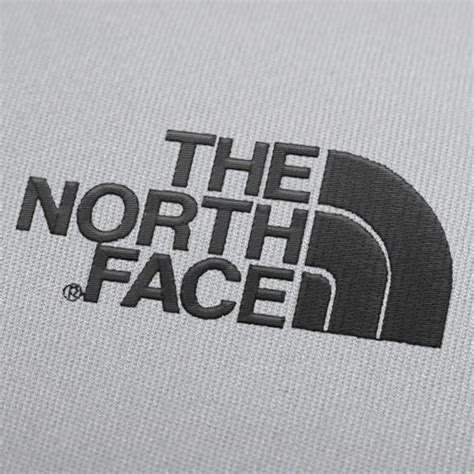 north face logo embroidery design
