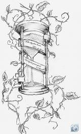 Hourglass Tattoo Sketch Designs Broken Coloring Branches Pages Template Heart sketch template