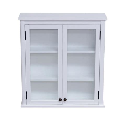 Wall Mounted Storage Cabinets With Glass Doors alaterre furniture dorset 27 in w wall mounted bath