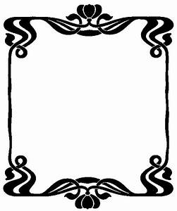 Art Nouveau Border - Cliparts.co