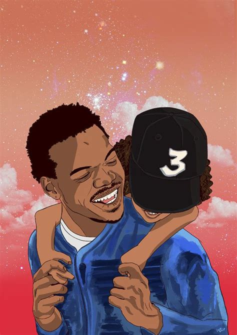 chance  rapper  poster  inkshipart  etsy mah dope shit pinterest discover