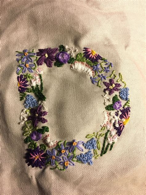 hand embroidered letter  flowers hand embroidered letters embroidered alphabet letter flower