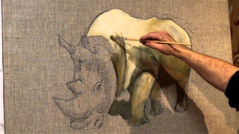 peindre un rhinoc 233 ros 224 la peinture 224 l huile