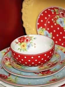 Vintage Floral and Polka Dot Dishes