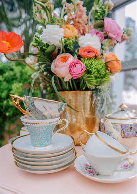 spring tea party wedding inspiration  layer cake