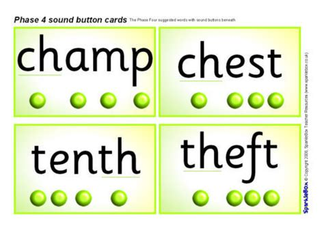 phase  sound buttons word cards