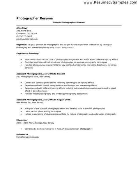 18498 professional resumes sle photographer cover letter exles resume exles