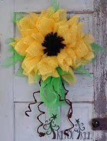 sunflower mesh wreath diy wreath ideas 2015