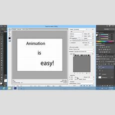 How To Create Animation In Photoshop Cs6 Youtube