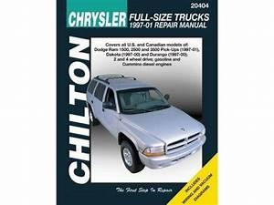 Repair Manual Chilton 20404 Fits 97 00 Dodge Dakota