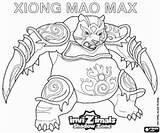 Invizimals Mao Xiong Coloring Max Shadow Zone Pages sketch template