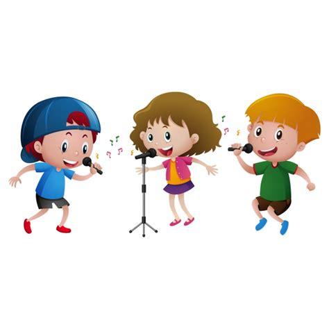 Diseño de niños cantando Descargar Vectores gratis