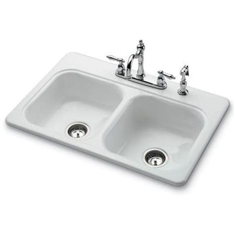 double porcelain kitchen sink bootz industries garnet ii top mount porcelain 33x22x7 4