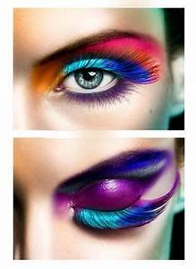 Lisa Frank makeup colorful neon long lashes and leopard