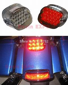New smoke motorcycle lens tail brake led light for quot