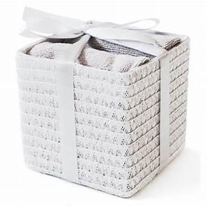 Serviette Carré Blanc : coffret serviette en microfibre blanc 100x60cm ~ Teatrodelosmanantiales.com Idées de Décoration