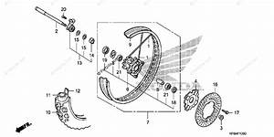 Honda Motorcycle 2009 Oem Parts Diagram For Front Wheel  Crf230l