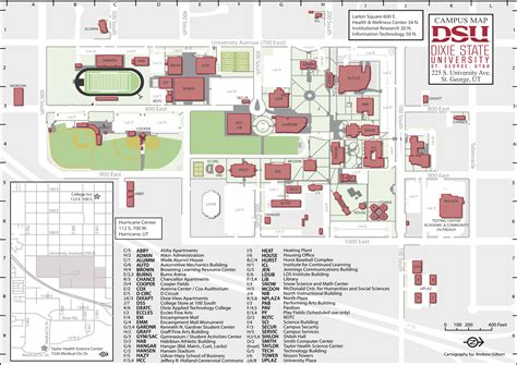 Dixie State University Map