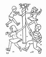 Coloring Games Birthday Toddlers Sheets Colouring Pages Dance Drawing Pole Maypole Printable Playing Boy Outdoor Crafts Activity Duathlongijon Popular Coloringhome sketch template