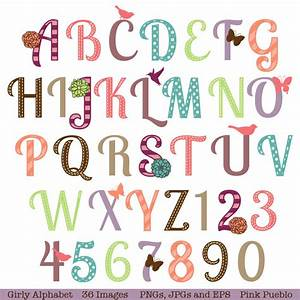 girly alphabet scrapbooking alphabet with flowers With scrapbooking letters and numbers
