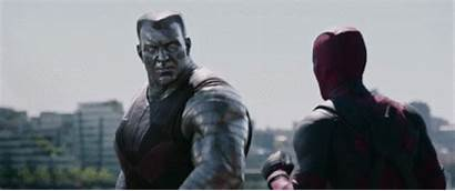 Deadpool Trailer Gifs Reynolds Ryan Domino Colossus