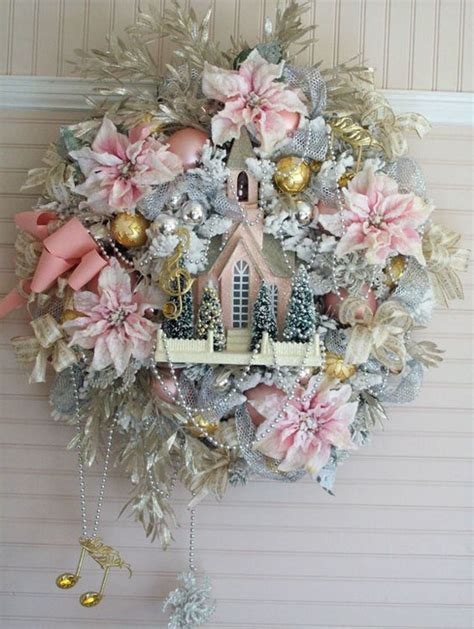 pink christmas wreaths pink decorating ideas all about