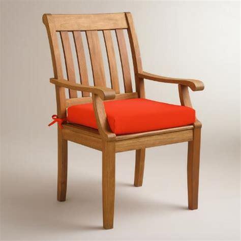 world market chair cushion orange outdoor chair cushion world market