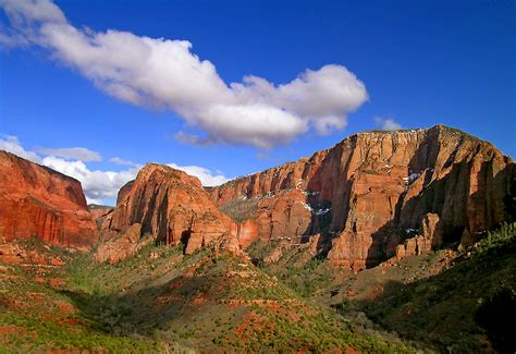 Red Fingers Kolob Canyon Zion Np A Photo From Utah