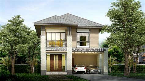 แบบบ้านสำเร็จรูปสองชั้น AR27 | AR93Design ขายแบบบ้านสำเร็จรูป รับออกแบบบ้าน แบบบ้านสวย โดยสถาปนิก