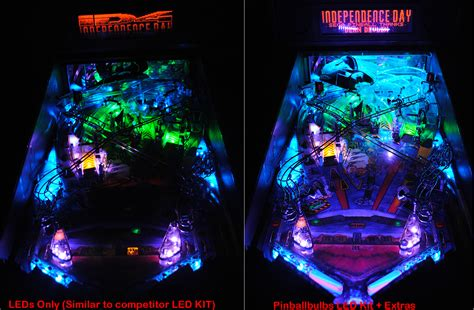 high quality independence day pinball ultimate led