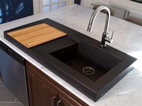small black kitchen sink black kitchens are the new white hgtv s decorating 5355