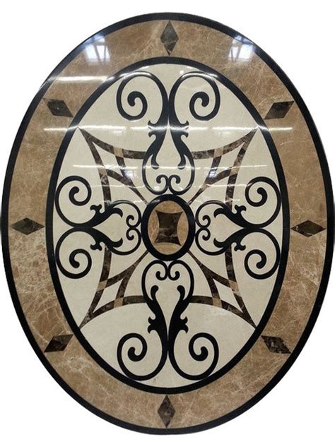 marble medallions for floors waterjet oval floor medallion made with marble and granite traditional floor medallions and