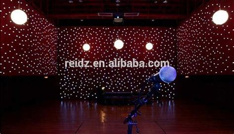 Red And White Led Christmas Lights by Fireproof Velvet Fabric Star Vision Stage Backdrop Rgb Led