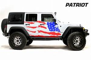 Jeep wrangler 07 16 vinyl graphics for rear side and front for Custom jeep lettering
