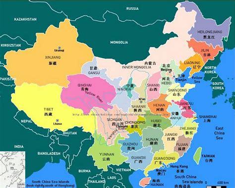 map  china country world map  china city physical