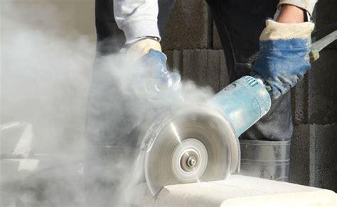 minimize  dangers  silica dust