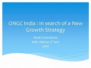 Ongc India : Growth Strategy