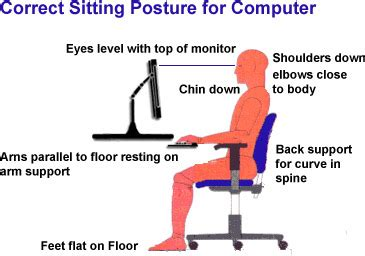 best way to sit at desk proper way to sit at your desk