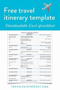 The travel itinerary template i use to plan all my trips for Itenary template