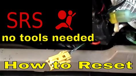 turn off airbag light how to reset srs airbag light turn off the srs doovi