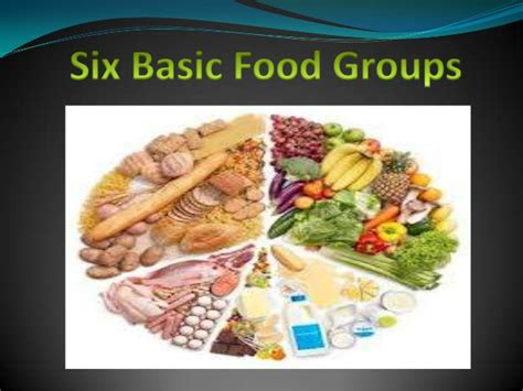 six basic food groups