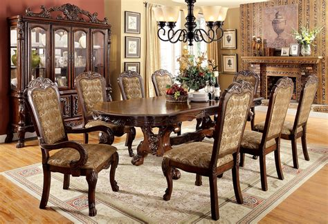 Cherry Dining Room Set by Medieve Cherry Extendable Rectangular Dining Room Set From